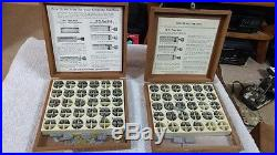 4 Boxes Vintage Kingsley Stamping Machine Letters with Wood Organizer