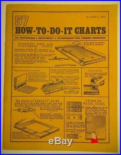 57 How To Do It Charts on Materials Equipment Techniques for Screen Printing