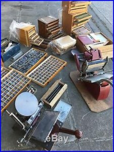 Adana 8 x 5, and 6 x 4 printing press with type and lots more letterpress