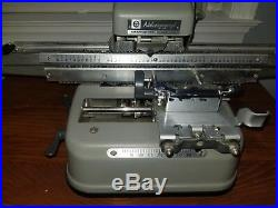 Addressograph graphotype 350 Dog Tag Machine with cover excellent condition