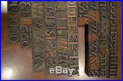 Antique Letterpress Morgans Wilcox Co Middletown NY Wood Type Upper & Lower Case