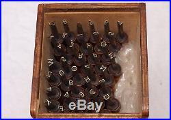 BOOKBINDING GILDING FINISHING TOOLS 6mm 38 LETTERS & NUMBERS 18pt DEVON WHILEY