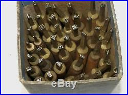 BOOKBINDING GILDING FINISHING TOOL 39 LETTERS & NUMBERS 7mm 21pt