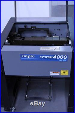 Duplo twin tower collators, 20 station and Fold stitch trim £15000+vat (d14)