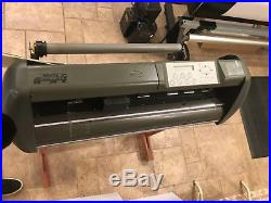 GCC Jaguar J2-61 24 Proffesional vinyl cutter plotter with wood stand Works Great