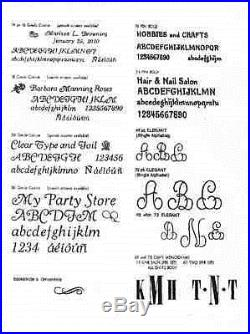 GOUDY CURSIVE TYPE (OR YOUR CHOICE) 18pt FULL SET in KINGSLEY TYPE BOXES