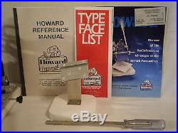 HOWARD IMPRINTING HAND PERSONALIZER MODEL 150 with EXTRAS