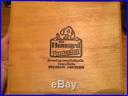 Howard Personalizer/Hot Foil Stamping/Letters/numbers/symbol/designs/400+Imprint