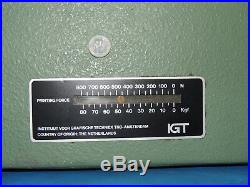 IGT Amsterdam A1 Printability Tester Printing Equipment Force 80 Kgf 800 N