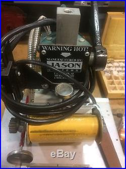 Jason Systems Model JS400 Hot Foil Engraving Stamping Machine Press withType Sets
