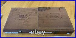 KINGSLEY HOT FOIL STAMP 18pt GOUDY CURSIVE TYPE PRINT CAPS LOWER CASE 2 BOXES A