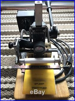 KINGSLEY M101 HOT FOIL STAMPING MACHINE With FONTS, FOIL, MANUAL & ACCESSORIES