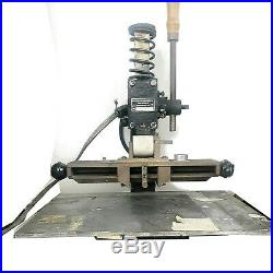 KWIKPRINT MACHINE HOT FOIL GOLD STAMPING MACHINE Leather Embossing MODEL 100