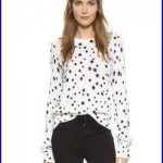 Kate Moss For Equipment Ryder Printed Cashmere Sweater Medium