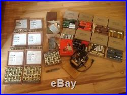 Kingsley Hot Foil Stamping Machine 8Boxes of Type Many Accessories 50+ rolls
