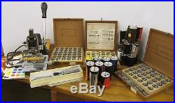 Kingsley Hot Foil Stamping Machine M-50  + 3 boxes of type set & 26 roll foil
