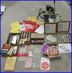 Kingsley Hot Foil Stamping Machine M 60 & ACCESSORIES TypeSet Fonts Foil +