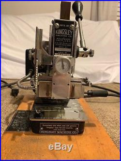 Kingsley Hot Foil Stamping Machine M-60 with Tools & Accessories