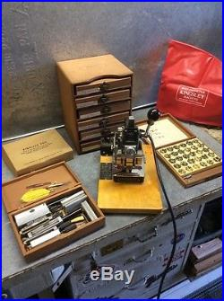 Kingsley Hot Foil Stamping Machine Model # M-50 plus many Accessories