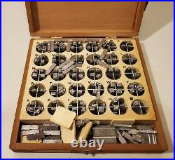 Kingsley Hot Foil Stamping Machine Wood Cabinet, 5 Drawers Initials, Tooling
