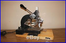 Kingsley Machine Co Vintage Hot Foil Stamping Machine Excellent Condition