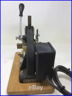 Kingsley Machine Model M-75 Single Line Hot Foil Stamping (TESTED) Free Shipping