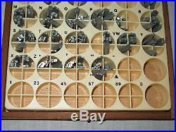 Kingsley Machine Type Letters 14pt Park Avenue w Boxes Hot Foil Stamping Machine