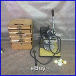 Kingsley Model M-101 Hot Foil Stamping Machine withExtras Type & Holders (L8)