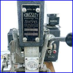 Kingsley hot GOLD foil stamping machine AM-60-AS LETTER SET PEDAL ADAPTER USED