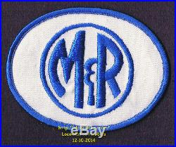 LMH PATCH Badge M&R EQUIPMENT Processing Manufacturing Printing OLD LOGO