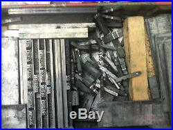 Large Collection of Printing Bits, Letterpress, Type, Spacers, Fonts etc