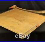 Large Old Industrial Vintage 25 Guillotine Paper Cutter Ingento #1162 Cuts Well
