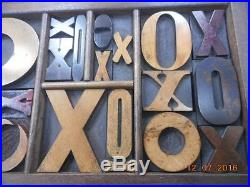 Letterpress Printing Antique Wood Type Graphic Design X & O Mix In Type Tray