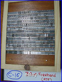 Letterpress Type 30 pt. Freehand (ATF) Excellent Condition RARE