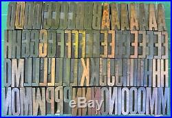 Letterpress Wood Type 12 line Gothic Extra Condensed 167 pcs. UC # punctuation