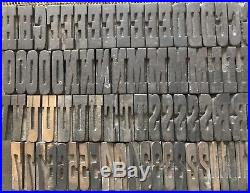 Letterpress Wood Type French Antique /Playbill 1 1/4 32mm