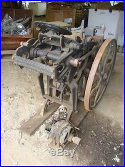 Nice Antique CHANDLER and PRICE LETTERPRESS Printing Press 10 x 15