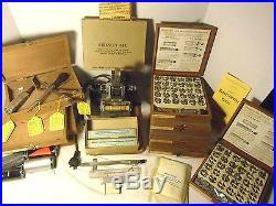 ORG ANTIQUE WORKING KINGSLEY GOLD STAMPING MACHINE +++++ tons of extra stuff