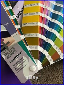 One set- Pantone Plus Series Formula Guide Solid Coated and Uncoated with box