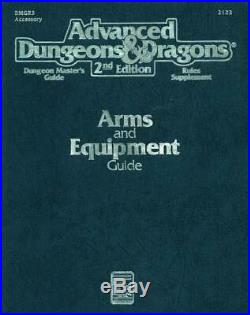 TSR AD&D 2nd Ed Arms and Equipment Guide (2nd Printing) SC VG+