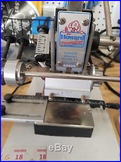 The Howard Personalizer Imprinting Hot Foil Stamping Machine With Accessories