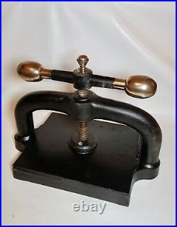 Victorian Cast Iron Book Press Refurbed Ready For Work Or Display