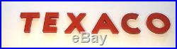 Vintage Collectible TEXACO Sign Letters in great condition