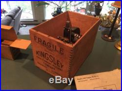 Vintage Rare Kingsley Gold Foil Stamping Machine with Original CRATE And Extras