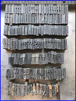Vintage letterpress printing wood type 1 5/16 inch (8 Picas) appx 160 pieces