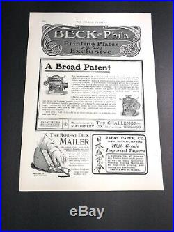 Wholesale Lot Of 12 Diff Printing Press Equipment Related Ads C 1910